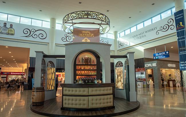 Patrón bar at Cancun airport