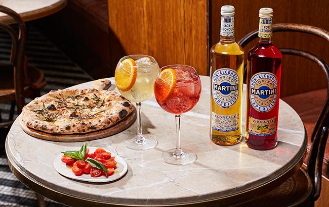 non-alcoholic Martini Vibrante and Floreal