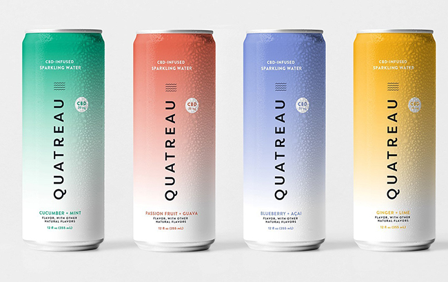 CBD-infused sparkling water brand Quatreau