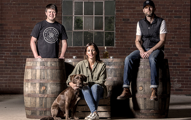 White Peak Distillery team