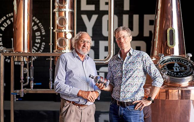 Dr Graham Jones and Michael Hickinbotham of Australian Distilling Co