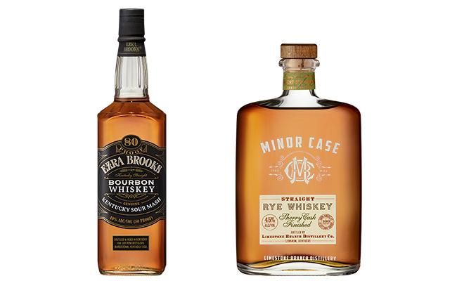Ezra Brooks Kentucky Straight Bourbon and Minor Case Straight Rye Whiskey