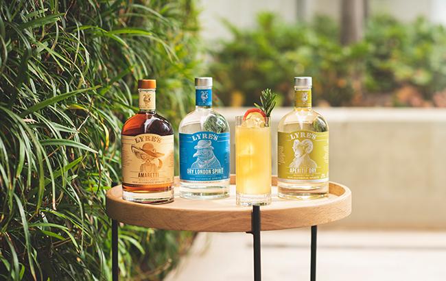Lyre's range of alcohol-free spirits