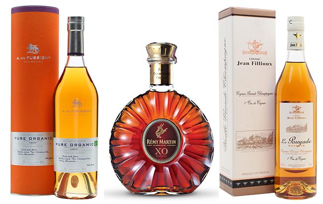 A De Fussigny, Rémy Martin and Jean Fillloux Cognacs