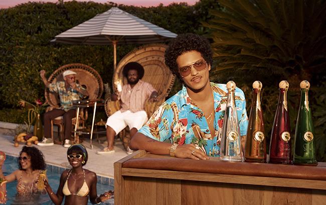 Bruno Mars with his Selvarey Rum range