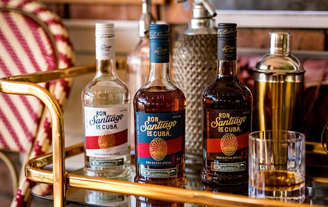 Ron Santiago de Cuba rum range