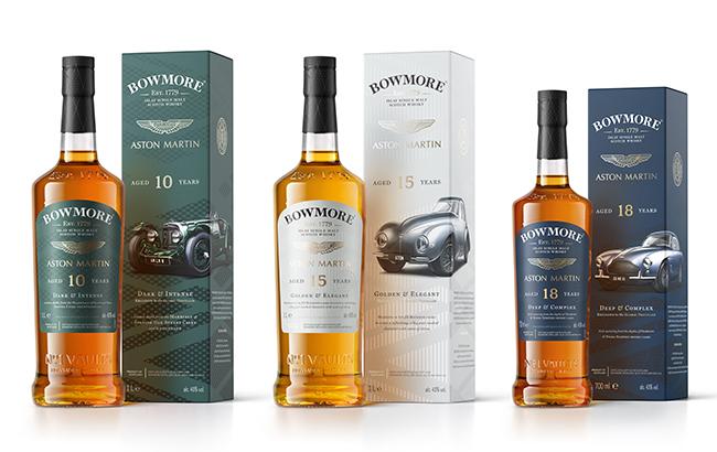 Bowmore's Designed by Aston Martin whisky range